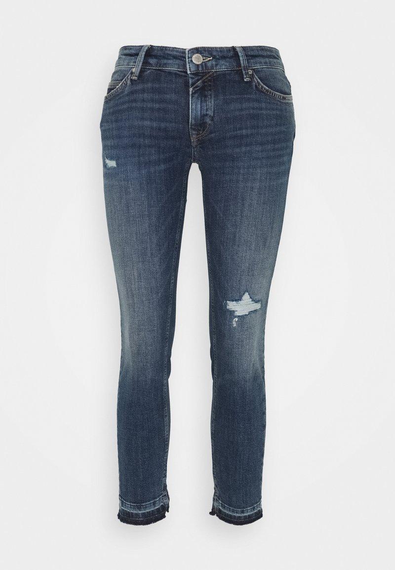 Marc O'Polo DENIM - SIV CROPPED - Jeans Skinny Fit - multi/dark blue crosshatch