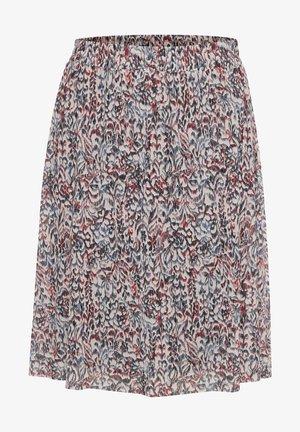 Pleated skirt - tapestry print scarlet sage