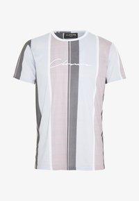 CLOSURE London - TEXTURED STRIPED TEE - Print T-shirt - pink - 0