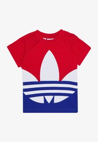 adidas Originals - BIG TREFOIL TEE  - T-shirt imprimé - scarlet/royal blue/white - 2