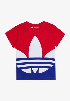 BIG TREFOIL TEE  - T-shirt con stampa - scarlet/royal blue/white