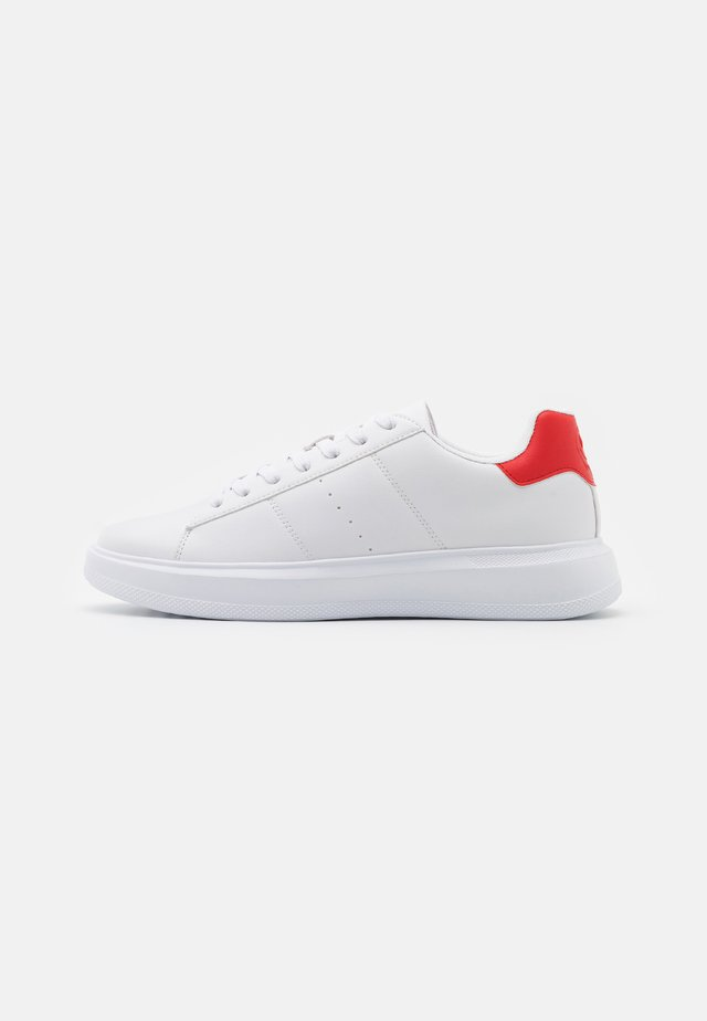 UNISEX - Sneakers laag - white/red