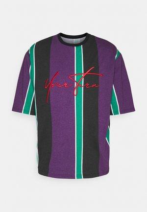 UNISEX - Print T-shirt - purple /green /black