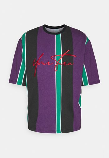 UNISEX - Triko spotiskem - purple /green /black