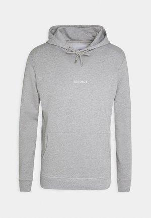 LENS HOODIE - Hoodie - light grey melange/white