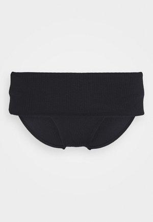 SOL BEACH FOLDOVER BRIEF - Bikini bottoms - black