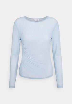 ASYMMETRIC GATHERED - Long sleeved top - blue