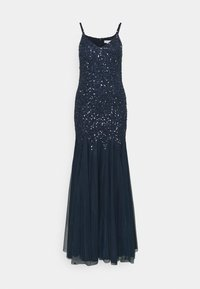 Maya Deluxe - DELICATE SEQUIN FISHTAIL MAXI DRESS - Ballkjole - navy - 4
