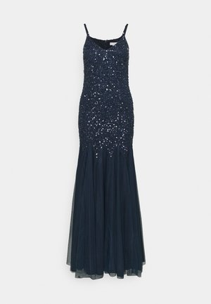 DELICATE SEQUIN FISHTAIL MAXI DRESS - Suknia balowa - navy