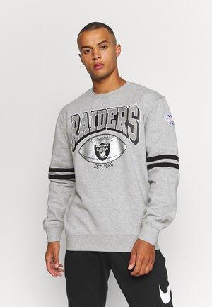 NFL OAKLAND RAIDERS ALL OVER PRINT CREW - Club wear - grey heather