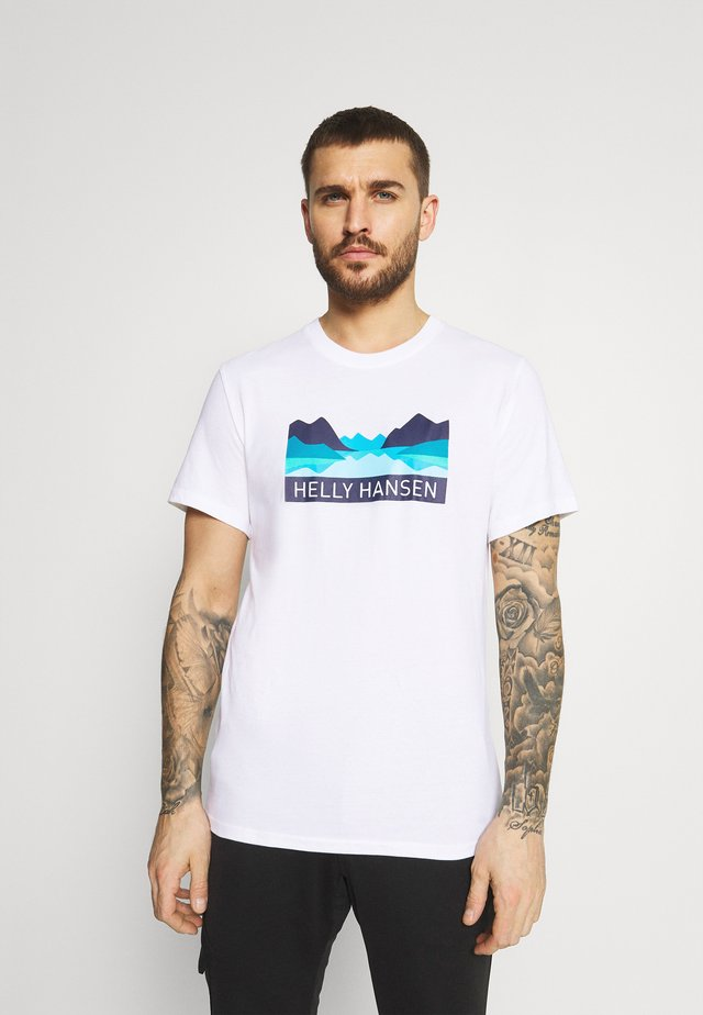 NORD GRAPHIC  - Print T-shirt - white