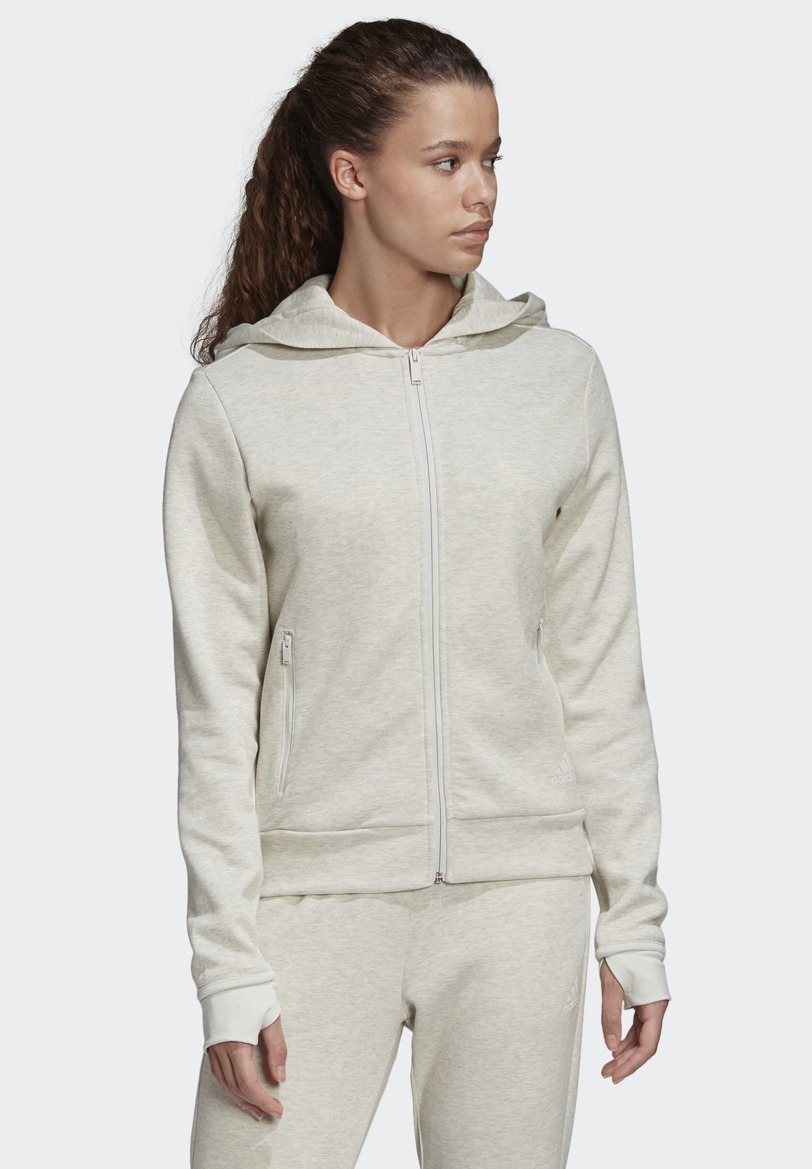 Latest Discount Women's Clothing adidas Performance MUST HAVES VERSATILITY HOODIE Zip-up hoodie grey melange BXwIIiSr6
