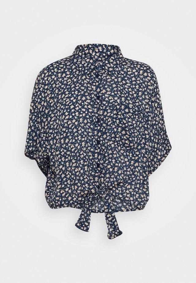 CORE TIE FRONT - Skjorte - dark blue