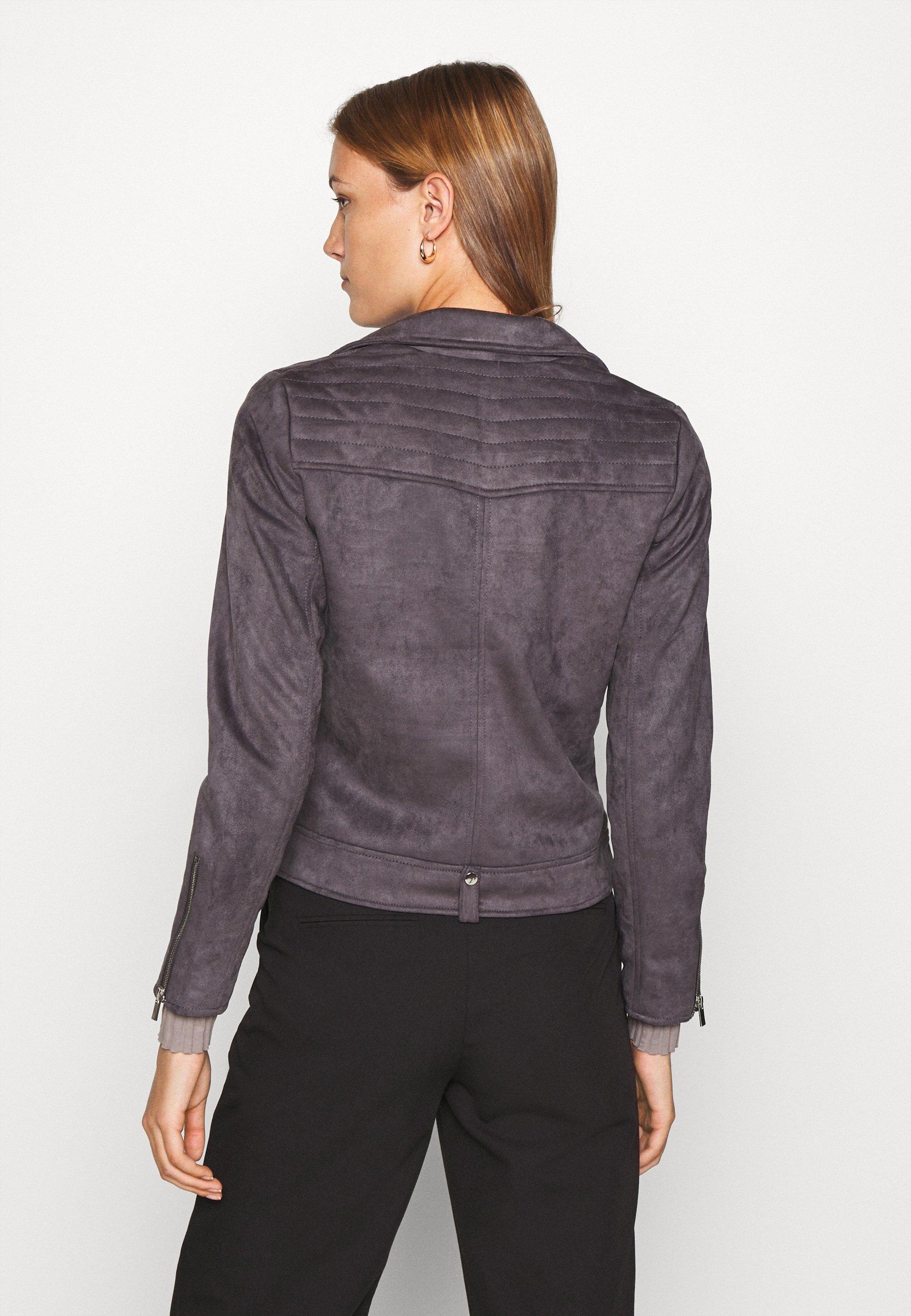 Dorothy Perkins BIKER JACKET Kunstlederjacke slate grey/grau