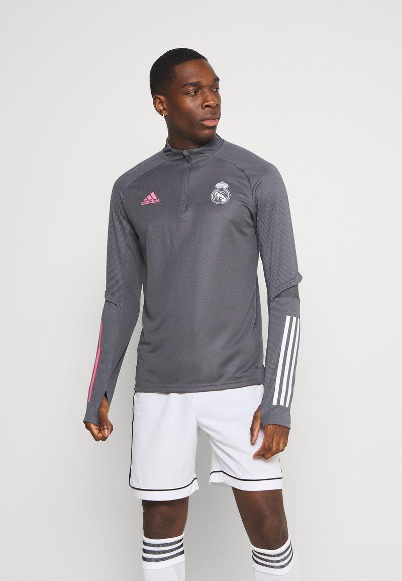 adidas Performance - REAL MADRID AEROREADY FOOTBALL - Klubtrøjer - grey five