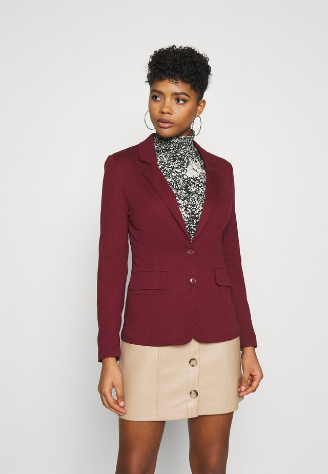 VMHARUKI - Blazer - cabernet/lining striped carbernet