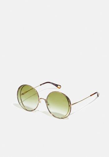 Sunglasses - gold-coloured/green
