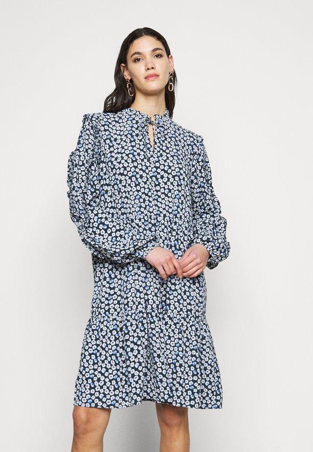 NMMARE NEW  DRESS - Sukienka letnia - black/pastel blue