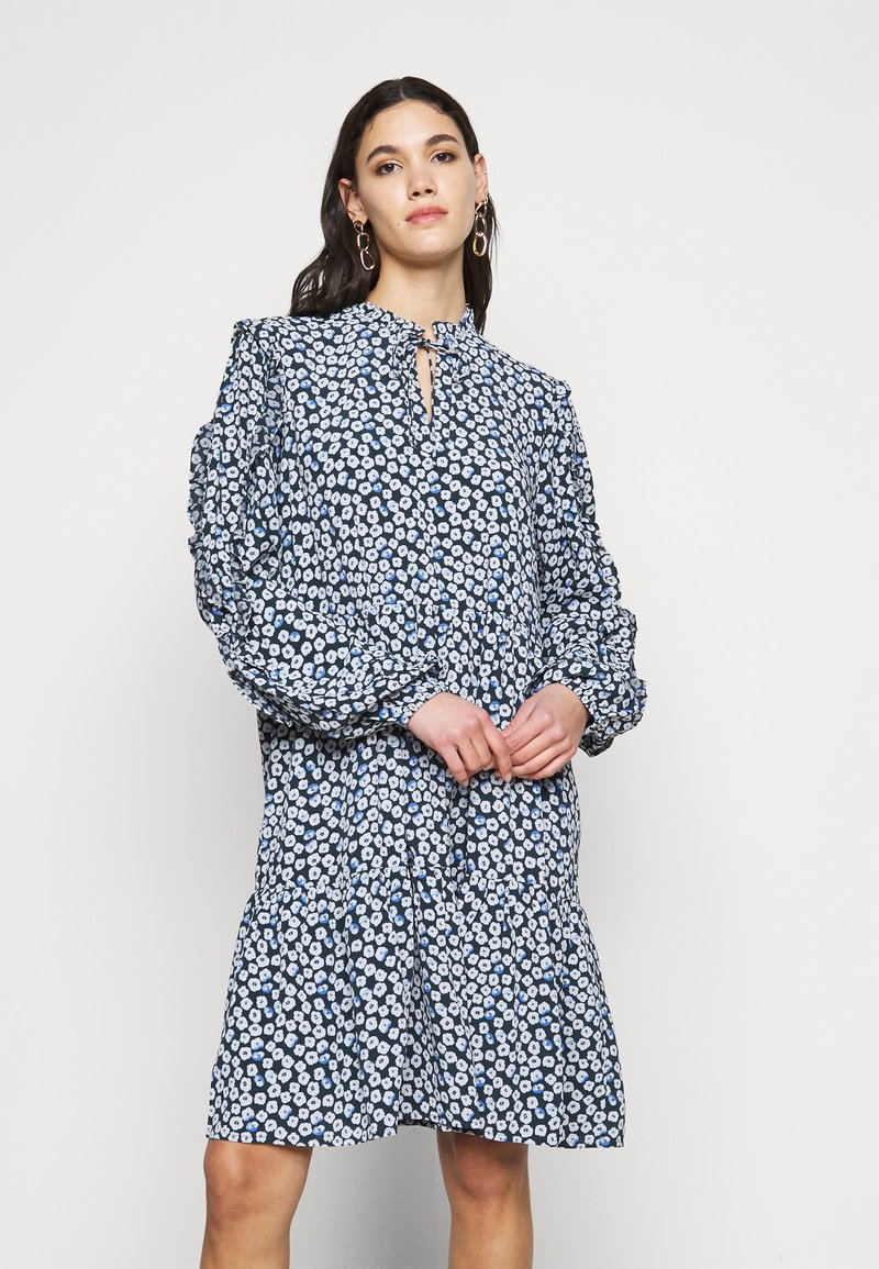 Noisy May Tall - NMMARE NEW  DRESS - Kjole - black/pastel blue