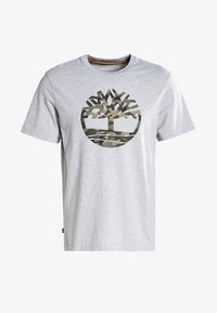 Timberland - SS KENNEBEC RIVER CAMO TREE - Print T-shirt - medium grey heather - 4