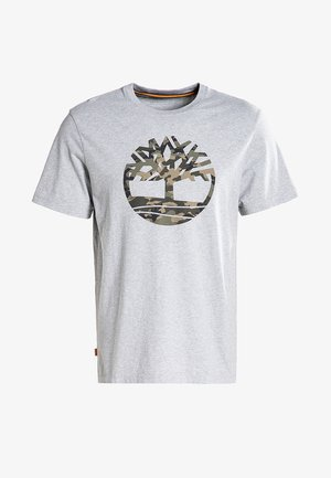SS KENNEBEC RIVER CAMO TREE - T-shirt med print - medium grey heather