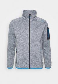 MAN JACKET - Fleece jacket - graffite melange/river