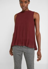 Club Monaco - PLEATED SWING TOP - Blouse - currant - 3