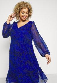 Evans - ANIMAL DRESS - Day dress - blue - 4