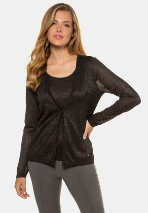 METALLIC-EFFEKT, 2-IN-1-OPTIK - Blouse - schwarz