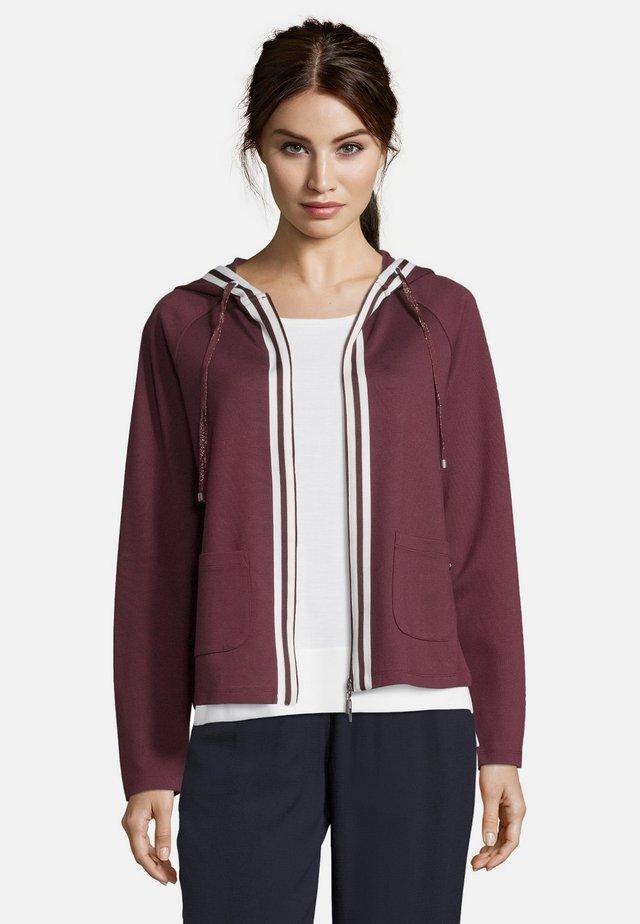 MIT KAPUZE - Zip-up hoodie - purple red