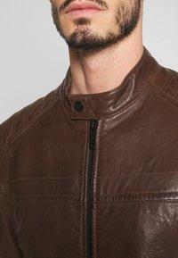 Strellson - BRIXTON - Leather jacket - cognac - 5