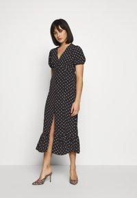 Miss Selfridge Petite - MULTI SPOT - Day dress - black - 0