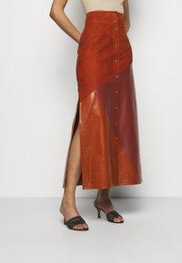 Bally - MIXED SKIRT - Maxi skirt - spice - 0