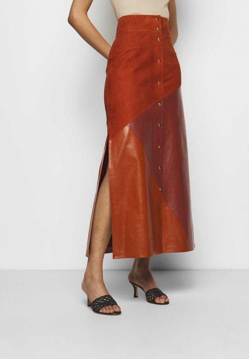 Bally - MIXED SKIRT - Maxi skirt - spice