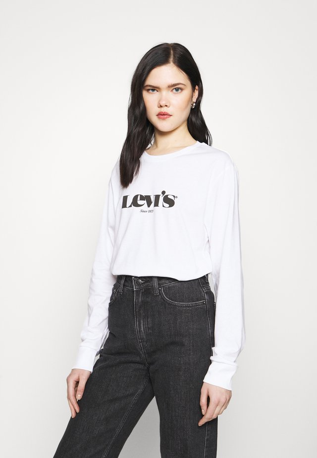 STANDARD FIT TEE - Long sleeved top - white