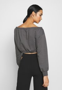 Nly by Nelly - OFF SHOULDER - Sweatshirt - off black - 2