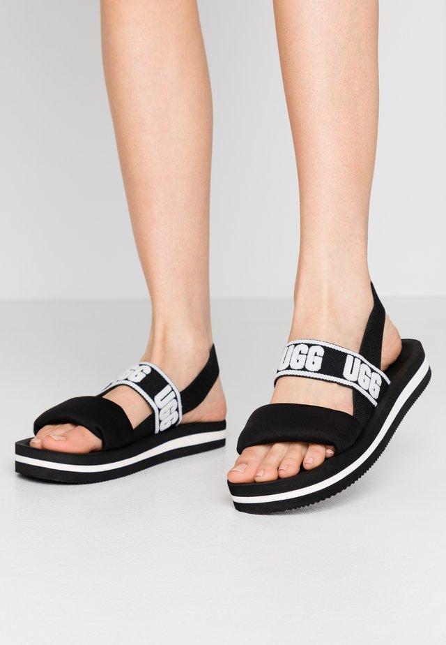 ZUMA SLING - Sandaalit nilkkaremmillä - black