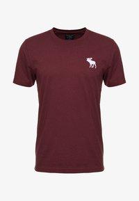 Abercrombie & Fitch - EXPLODED CREW VEE POP  - Print T-shirt - burg crew - 3