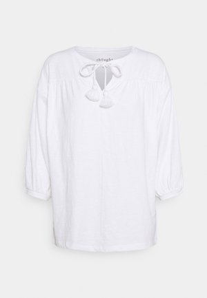 BLOUSE - Top sdlouhým rukávem - white