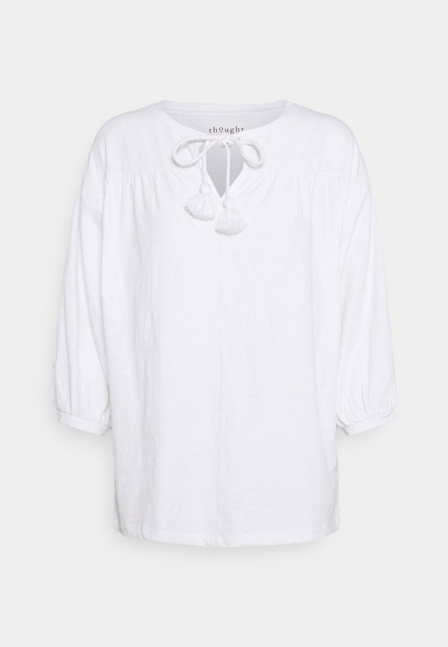 BLOUSE - Long sleeved top - white