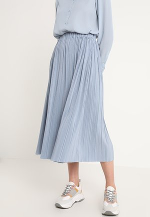 UMA SKIRT - Pliceret nederdel /Nederdele med folder - dusty blue