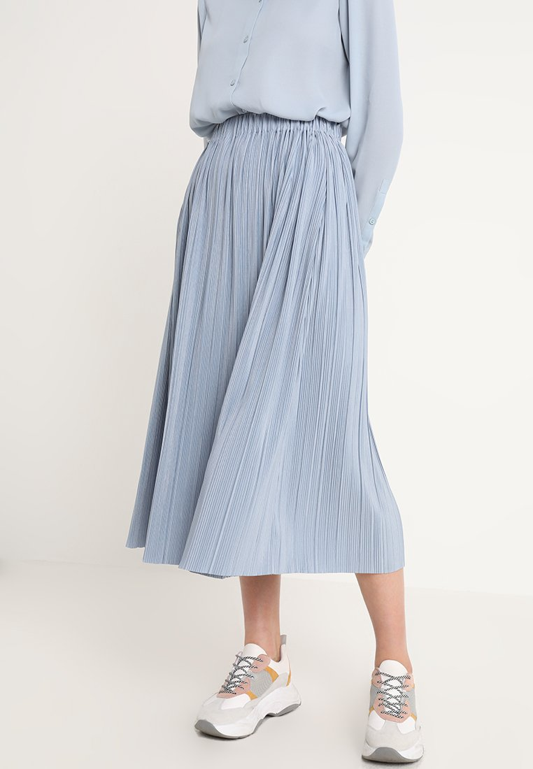 Samsøe Samsøe - UMA SKIRT - Pleated skirt - dusty blue
