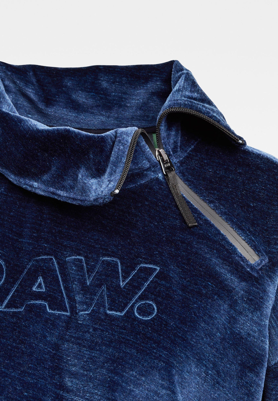 GStar RAW DOT COLLAR ZIP Fleecejacke kobalt htr/mehrfarbig