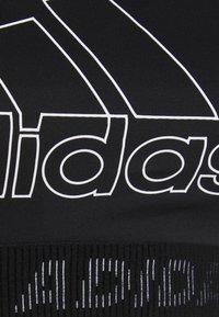 adidas Performance - Sujetadores deportivos con sujeción media - black/white - 2