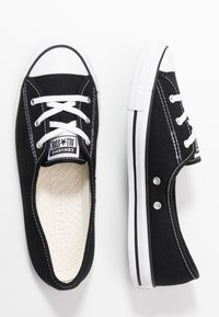 Converse - CHUCK TAYLOR ALL STAR BALLET LACE - Slip-ons - black/white - 3
