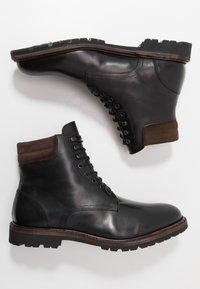 Prime Shoes - Šněrovací kotníkové boty - buttero black - 1