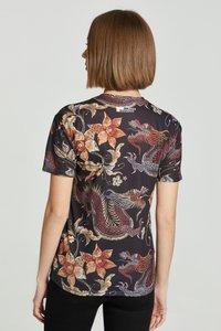 Mr. GUGU & Miss GO - JAPANESE DRAGON  - Print T-shirt - black - 5