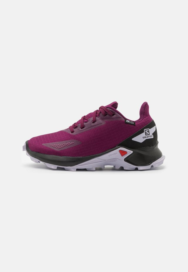 ALPHACROSS BLAST CSWP UNISEX - Hiking shoes - plum caspia/black/purple heather
