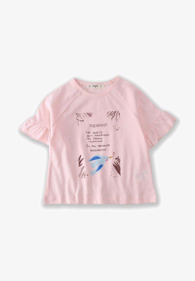 BIRD - T-shirt con stampa - light pink