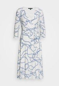 Lauren Ralph Lauren - PRINTED MATTE DRESS - Jerseyklänning - colonial cream - 7